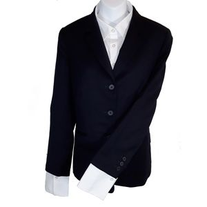 Women's Navy Dark Blue Lands End Work Blazer